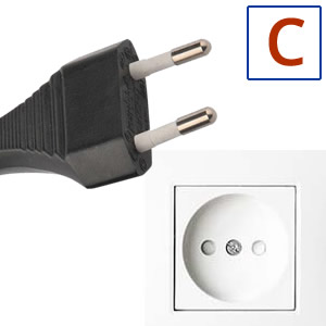 Electric socket and plug C