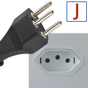 Electric socket and plug J