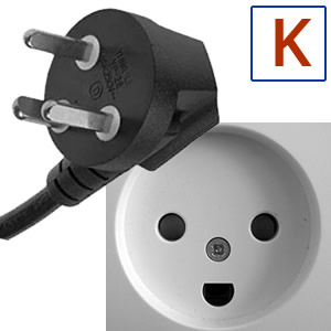 Electric socket and plug K