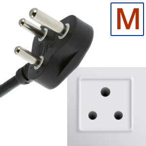 Electric socket and plug M